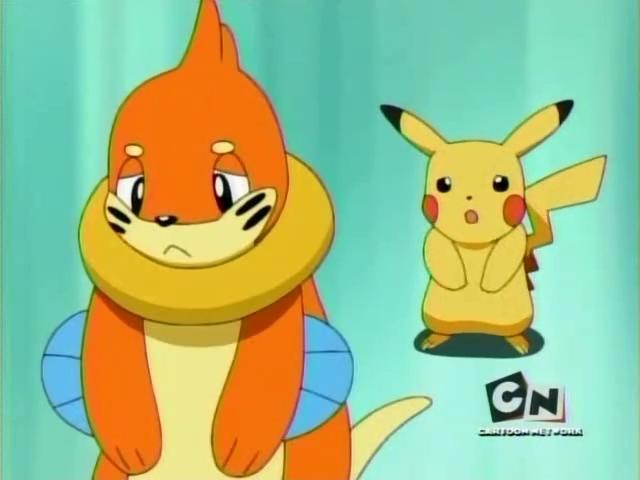 Smutný Buizel s Pikachu