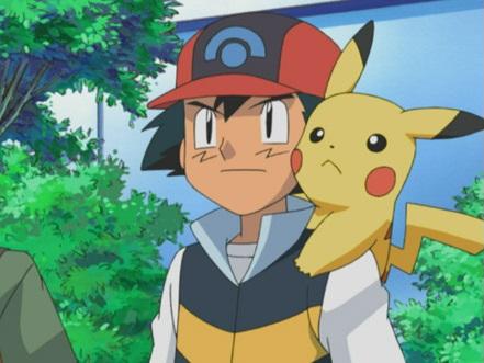 Ash s Pikachu na stadióně